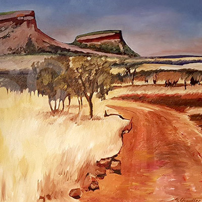 landscape painting by Sally Chandler