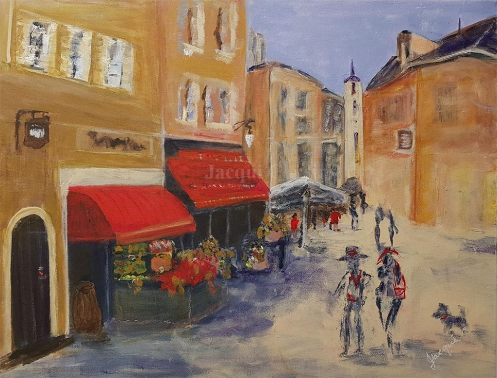 Village St In Provence painting by Jacqui Cousins