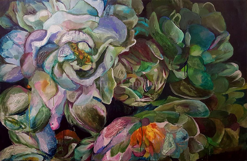 Floral artwork by Emma Comben