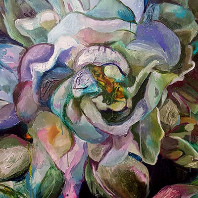 Floral artwork by Emma Comben