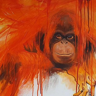 Orangutan artwork by Jane Z