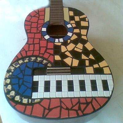 Mosaic guitar by Peter Charlish