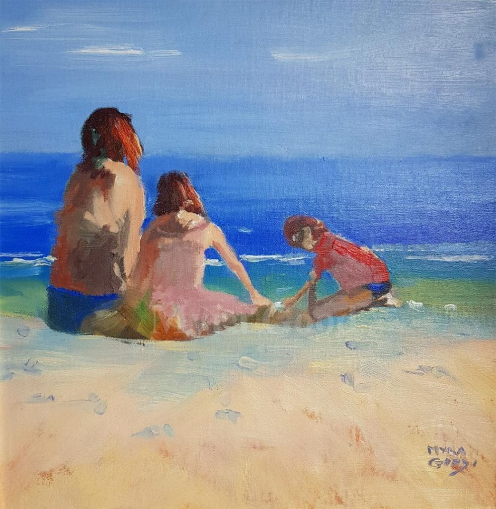 At The Beach With Mum by artist Myra Good