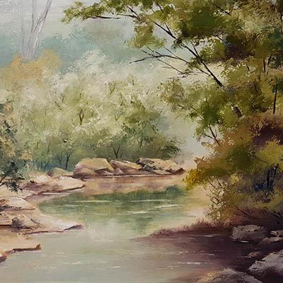 Creek artwork by Helen Hornibrook